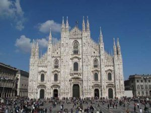 Milan city, hotels, hospitals, railway stations